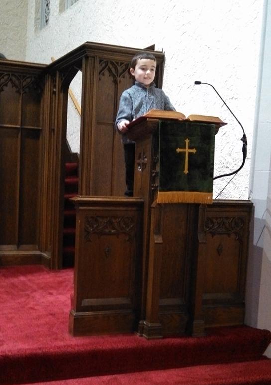 10 year-old liturgist