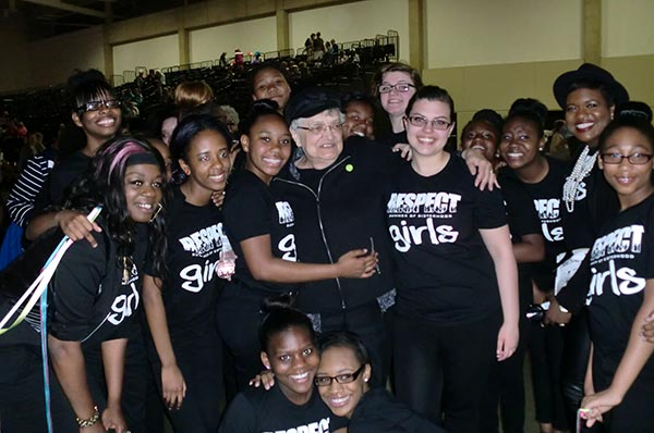 girls from West Side Community House Sisterhood and Margaret Bullard