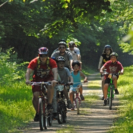 Kids on the bike trail