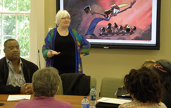 Dr. Diane Lobody speaks to participants