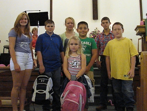Blessing of the Backpacks Contemporary service group