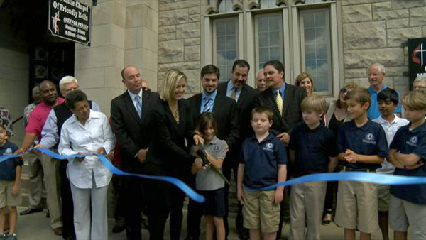 Trinity UMC Ribbon Cutting - Kids and Adults