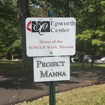 Project Manna sign