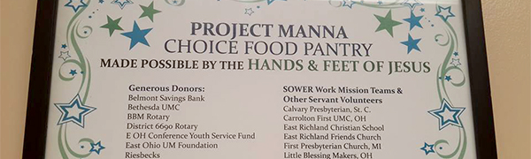 Project Manna Thank yous