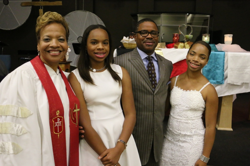 Bishop Tracy S. Malone, Ashley Malone, Derrick Malone and Alexis Malone