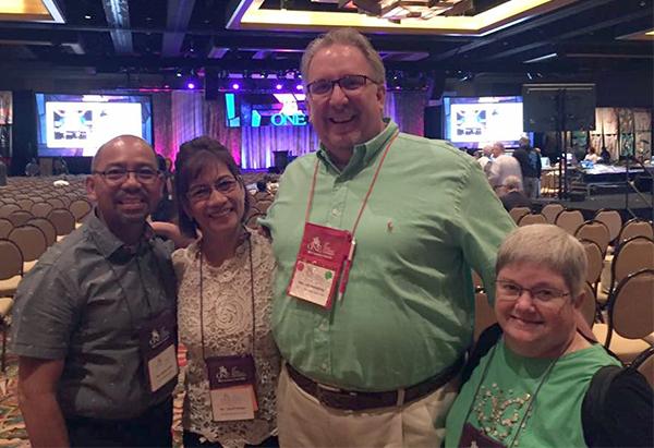 Armando and Debbie Arellano with Jim Humphrey and Bev Hall.
