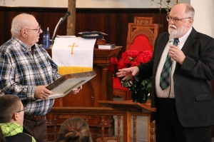 Joseph Fox and Pastor Jim Jensen