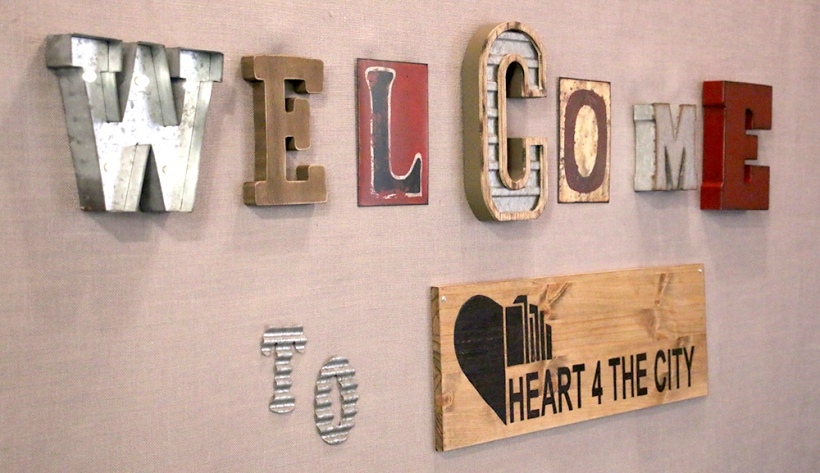Welcome to Heart 4 The City sign