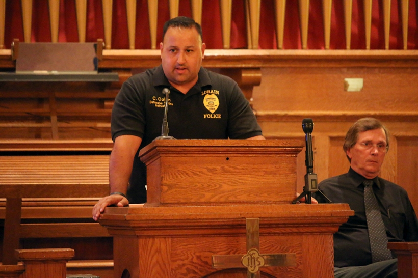 Lorain Police Narcotics Detective Chris Colon