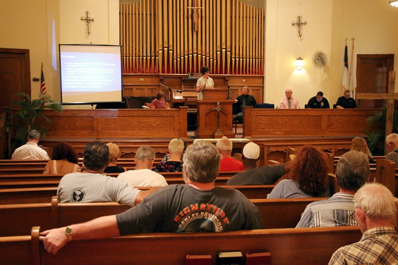 Pastor Karen Hollingsworth welcomed community members to Lorain Faith UMC