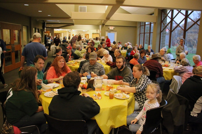 Gathering at Thanksgiving Feast