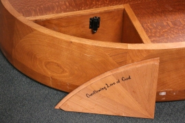 One of four prayer chambers on the new baptismal font