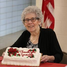 Juanita Woods with Cake