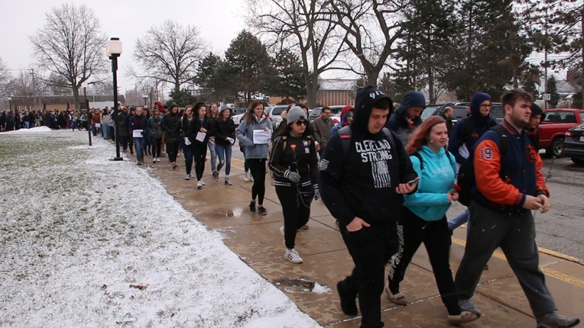 Berea-Midpark HS Students Walk for Change