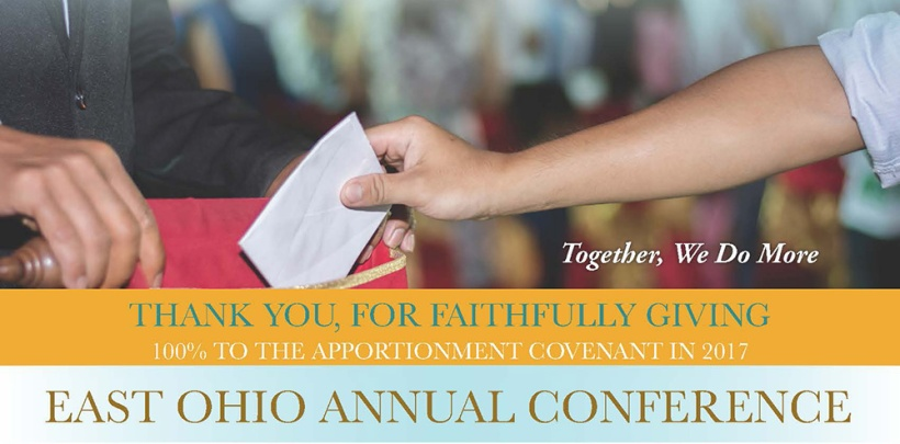 Thank You East Ohio Conference - Hand with envelope