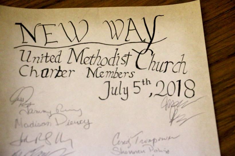 New Way Charter, dated and signed by members