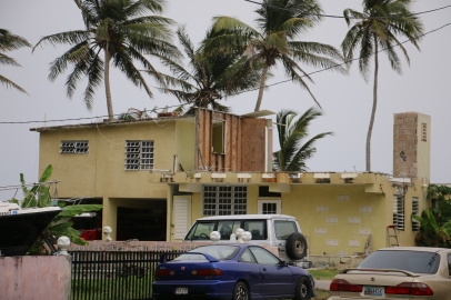 One of thousands of homes destroyed by Hurricane Maria
