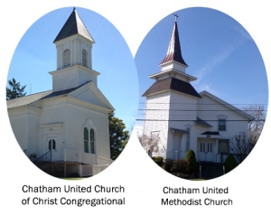 Photo of both Chatham churches