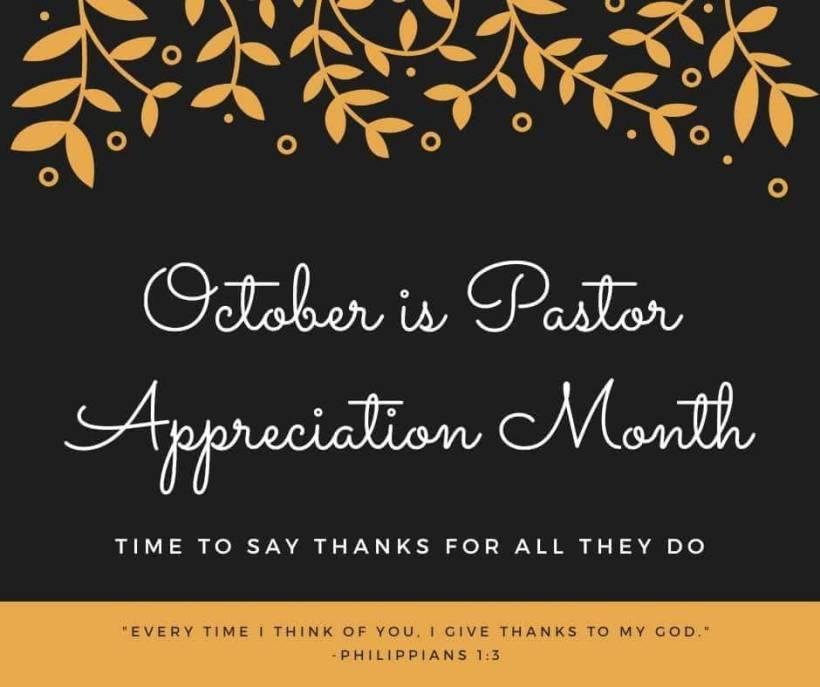 Pastor appreciation banner