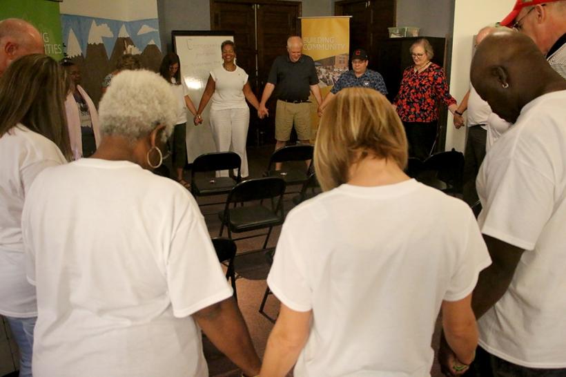 Praying in circle