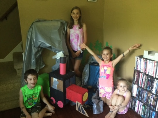 One family decorated their living room for VBS